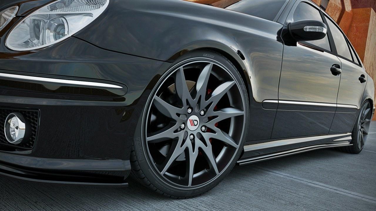 Dokładki Progów Mercedes E-Class W211 AMG - GRUBYGARAGE - Sklep Tuningowy